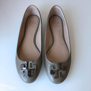 Tory Burch Lowell French Gray Ballet Flats